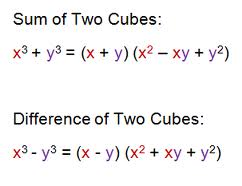 factor of cubes