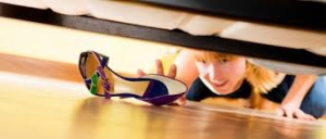 shoes under bed