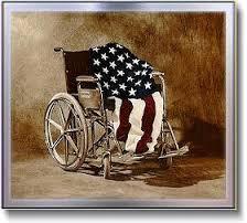 flag wheelchair