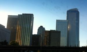 Seattle skyline at twilight